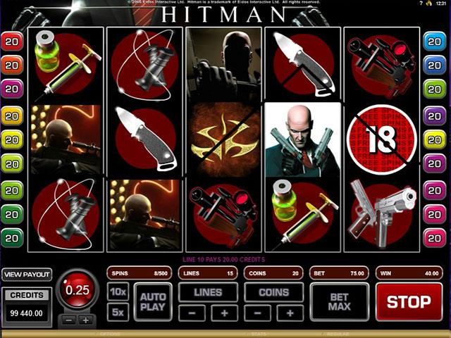 HitMan microgaming kolikkopelit screenshot