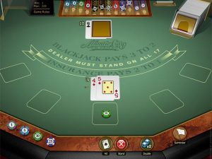 Atlantic City Blackjack Gold Microgaming screenshot