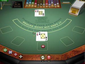 Double Exposure Blackjack Gold Microgaming screenshot