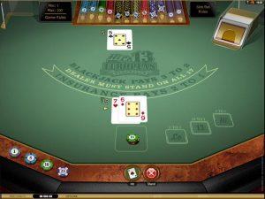 HiLo 13 European Blackjack Gold Microgaming screenshot