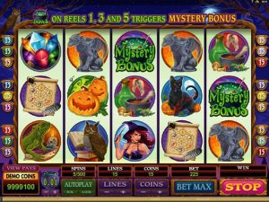Lucky Witch Microgaming kolikkopelit screenshot