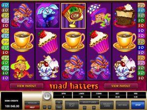 Mad Hatters Microgaming kolikkopelit screenshot