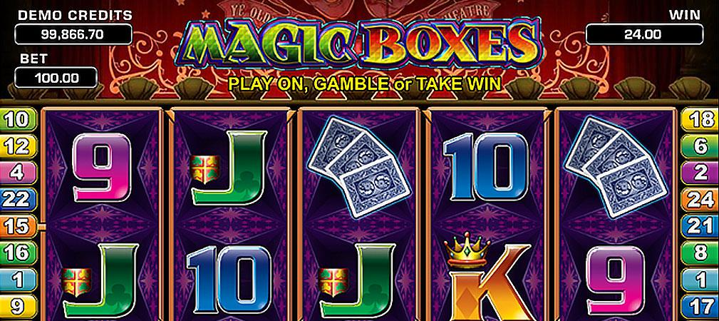 Magic Boxes Microgaming kolikkopelit slider