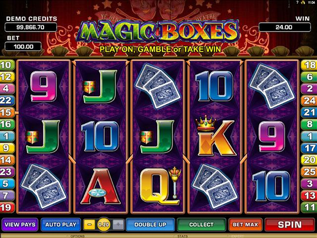 Magic Boxes Microgaming kolikkopelit screenshot