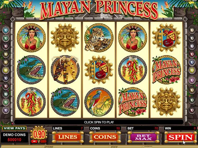 Mayan Princess Microgaming kolikkopelit screenshot