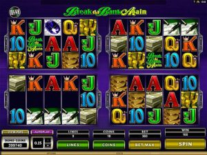 Mega Spins Break Da Bank Microgaming kolikkopelit screenshot