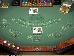 Multi-Hand Perfect Pairs Blackjack Gold Microgaming screenshot