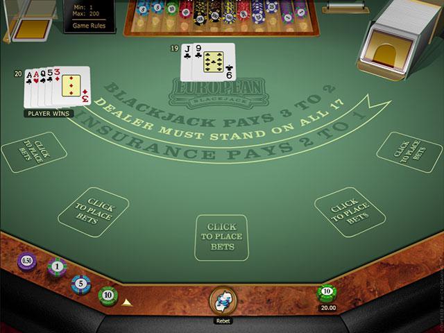 Multi-hand European Blackjack Gold Microgaming screenshot