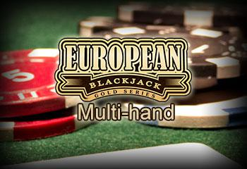 Multi-hand European Blackjack Gold Microgaming thumbnail