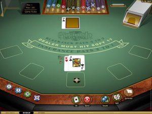 Spanish 21 Blackjack Gold Microgaming screenshot