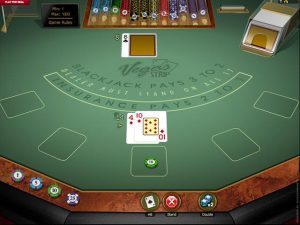 Vegas Strip Blackjack Gold Microgaming screenshot