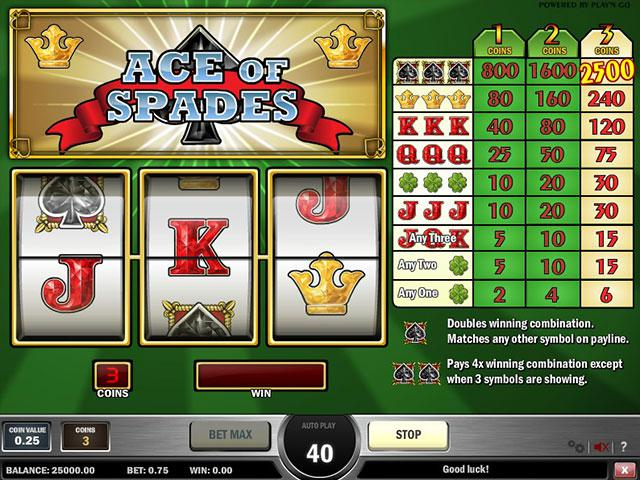 Kolikkopelit Ace of Spades PlaynGo SS - Toripelit.com