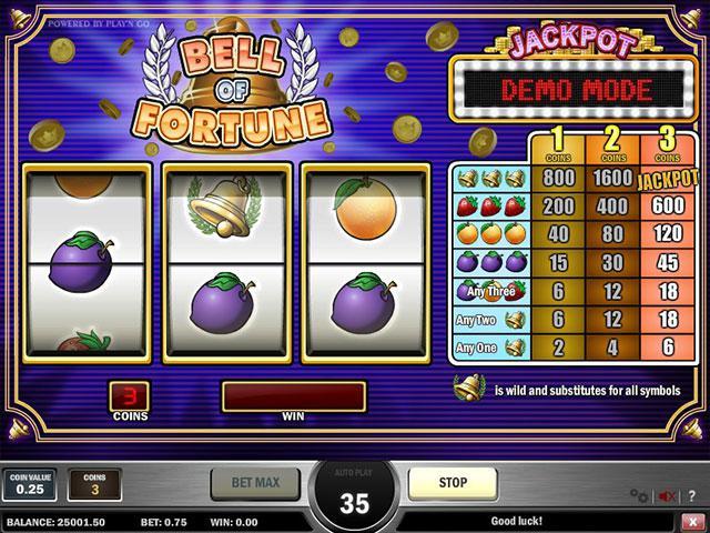 Kolikkopelit Bell Of Fortune PlaynGo SS - Toripelit.com