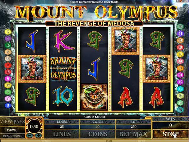 Kolikkopelit Mount Olympus Revenge of Medusa Microgaming SS - Toripelit.com