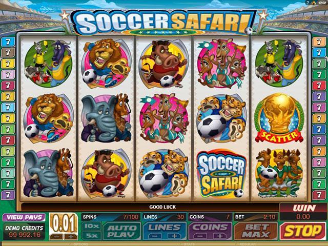 Kolikkopelit Soccer Safari Microgaming SS - Toripelit.com