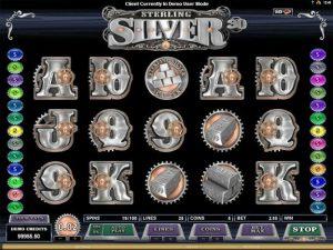 Kolikkopelit Sterling Silver 3D 2D Microgaming SS - Toripelit.com