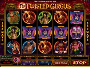 Kolikkopelit The Twisted Circus Microgaming SS - Toripelit.com