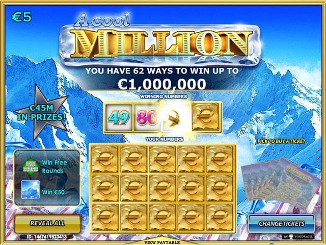 Kolikkopelit A Cool Million, Yggdrasil Gaming SS - Toripelit.com