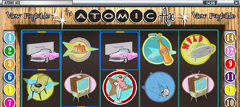 Kolikkopelit Atomic Age, Rival Slider - Toripelit.com