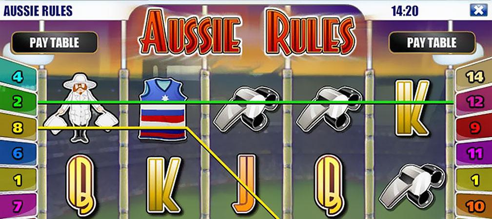 Kolikkopelit Aussie Rules, Rival Slider - Toripelit.com