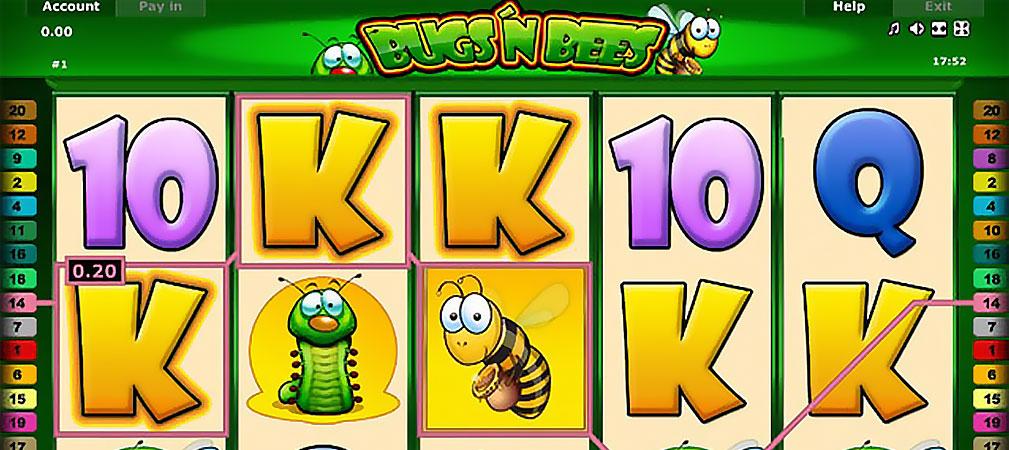 Kolikkopelit Bugs 'n Bees, Novomatic Slider - Toripelit.com