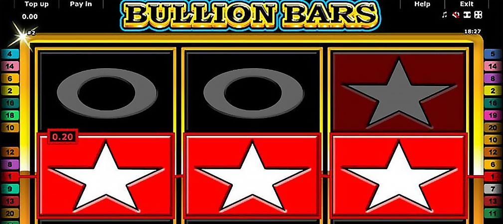 Kolikkopelit Bullion Bars, Novomatic Slider - Toripelit.com