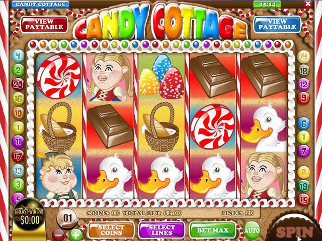 Kolikkopelit Candy Cottage, Rival SS - Toripelit.com