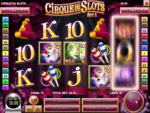 Kolikkopelit Cirque du Slots, Rival SS - Toripelit.com
