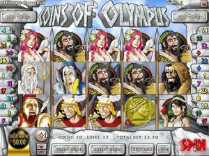 Kolikkopelit Coins of Olympus, Rival SS - Toripelit.com