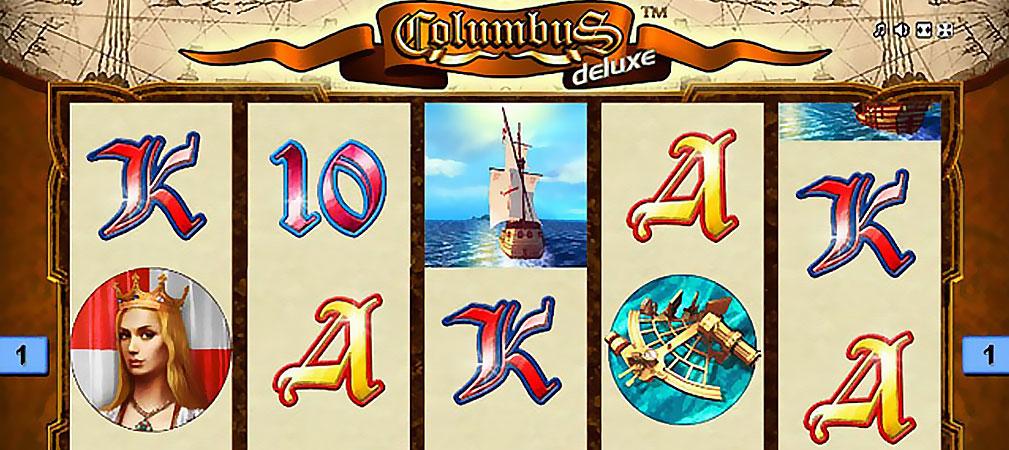 Kolikkopelit Columbus Deluxe, Novomatic Slider - Toripelit.com