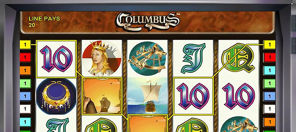 Kolikkopelit Columbus, Novomatic Slider - Toripelit.com
