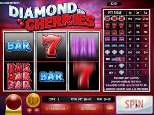 Kolikkopelit Diamond Cherries, Rival SS - Toripelit.com