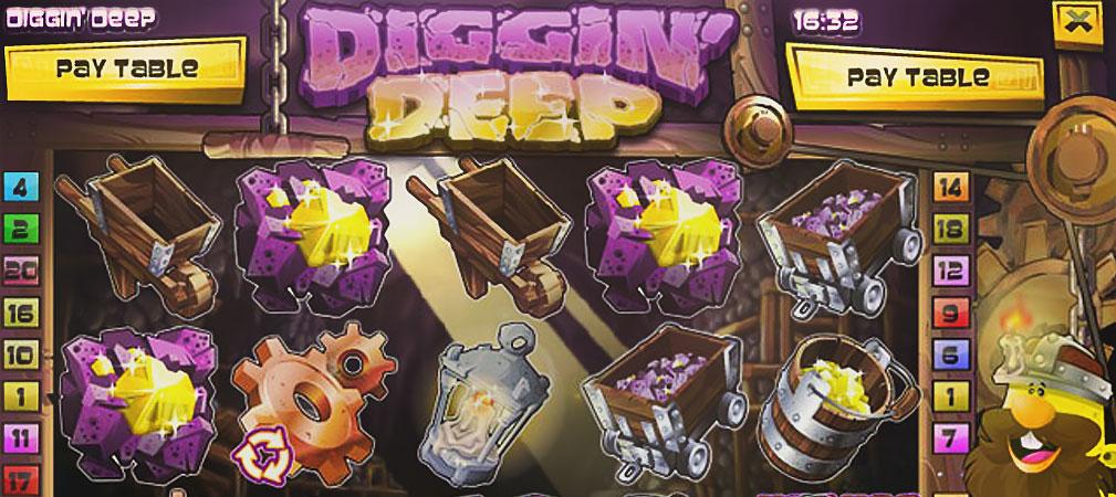 Kolikkopelit Diggin Deep, Rival Slider - Toripelit.com