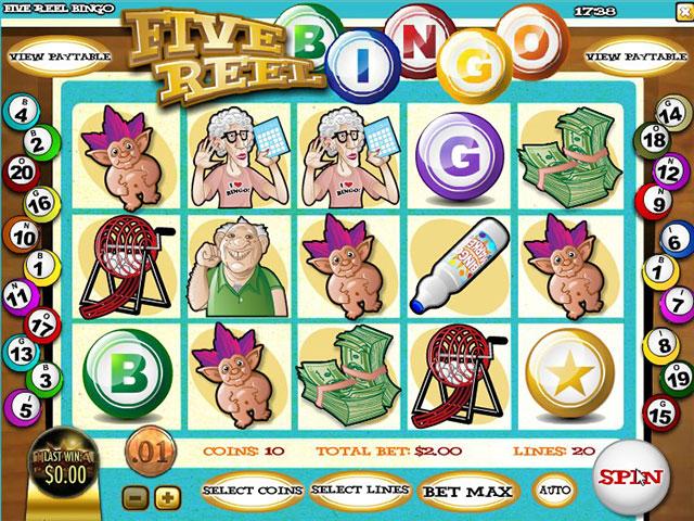 Kolikkopelit Five Reel Bingo, Rival SS - Toripelit.com