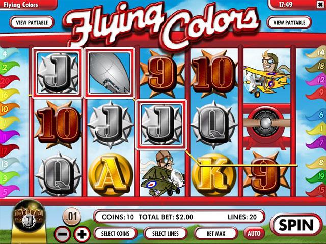 Kolikkopelit Flying Colors, Rival SS - Toripelit.com