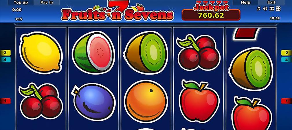 Kolikkopelit Fruits'n Sevens, Novomatic Slider - Toripelit.com