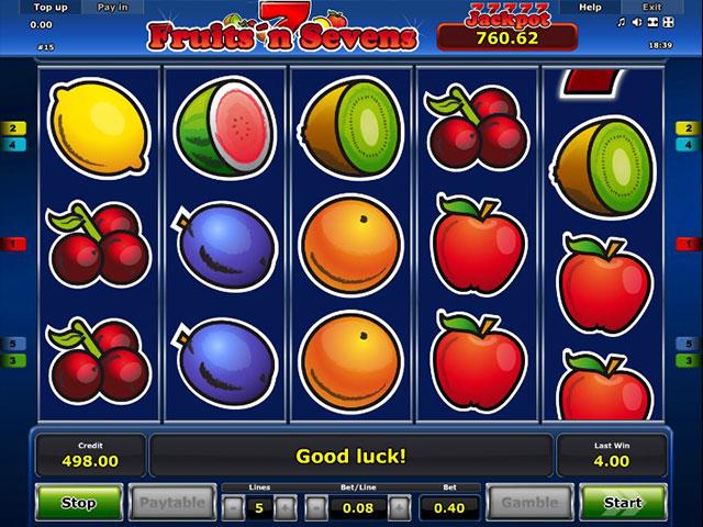 Kolikkopelit Fruits'n Sevens, Novomatic SS - Toripelit.com