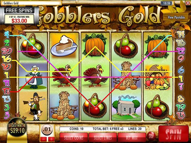 Kolikkopelit Gobbler's Gold, Rival SS - Toripelit.com
