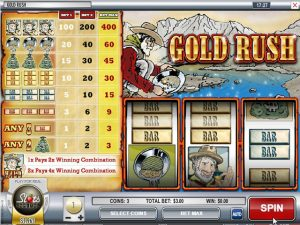 Kolikkopelit Gold Rush, Rival SS - Toripelit.com