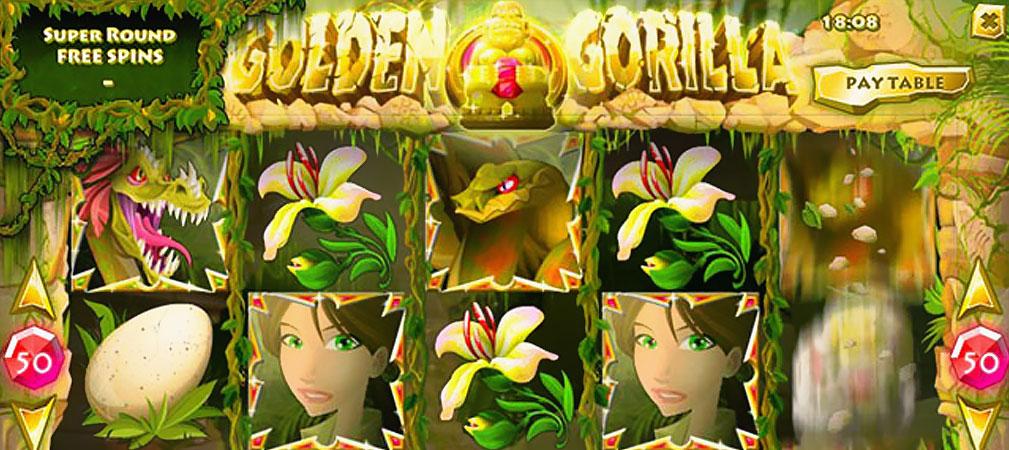 Kolikkopelit Golden Gorilla, Rival Slider - Toripelit.com