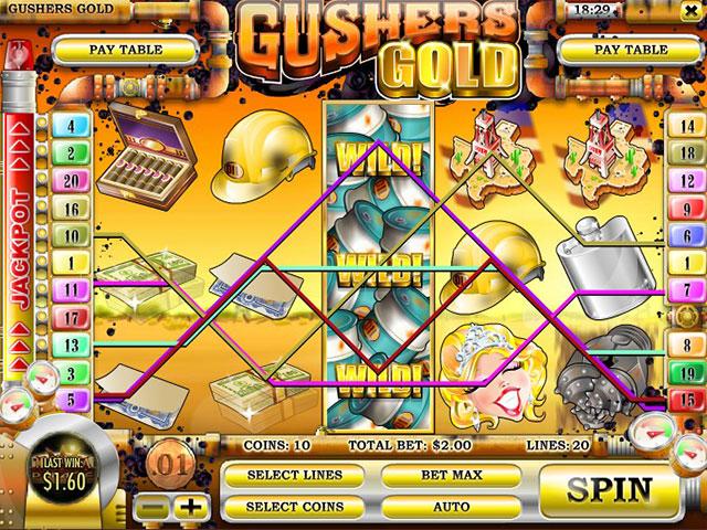 Kolikkopelit Gusher's Gold, Rival SS - Toripelit.com