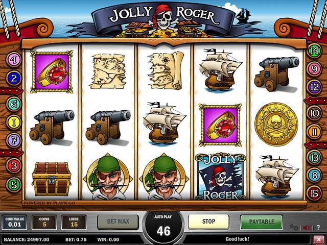 Kolikkopelit Jolly Roger, Play'n GO SS - Toripelit.com