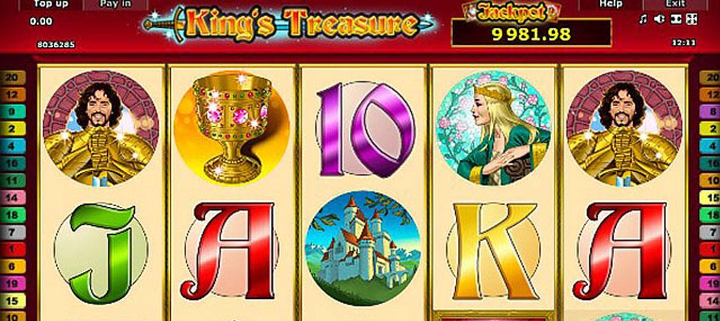 Kolikkopelit King's Treasure, Novomatic Slider - Toripelit.com