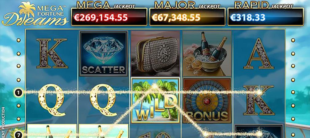Kolikkopelit Mega Fortune Dreams, NetEnt Slider - Toripelit.com