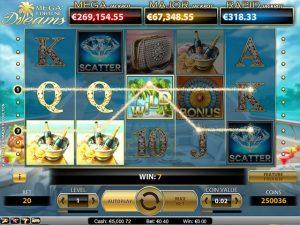 Kolikkopelit Mega Fortune Dreams, NetEnt SS - Toripelit.com