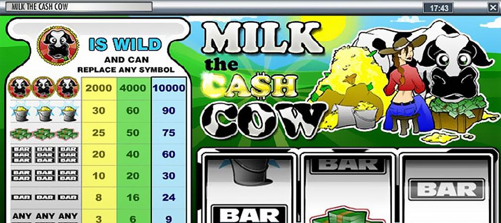 Kolikkopelit Milk the Cash Cow, Rival Slider - Toripelit.com