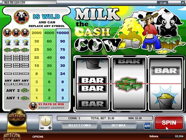 Kolikkopelit Milk the Cash Cow, Rival SS - Toripelit.com