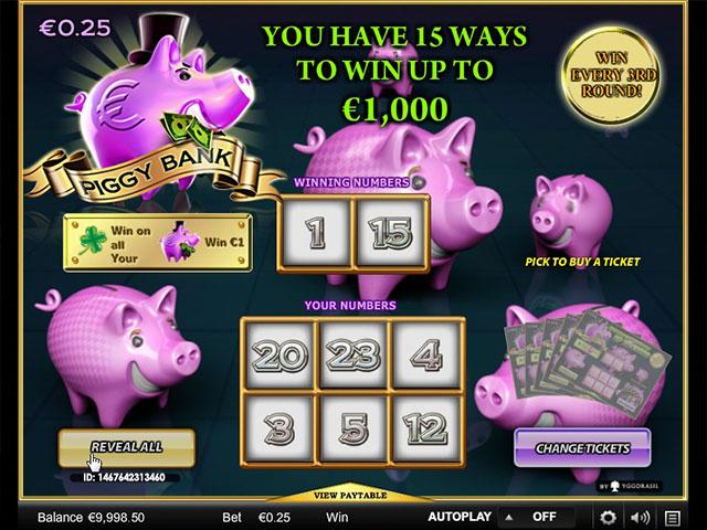 Kolikkopelit Piggy Bank, Yggdrasil Gaming SS - Toripelit.com
