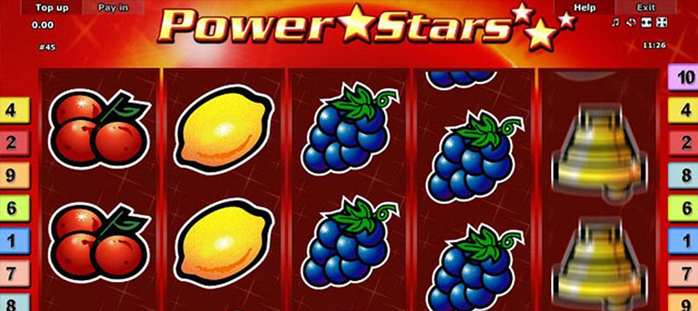 Kolikkopelit Power Stars, Novomatic Slider - Toripelit.com