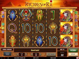 Kolikkopelit Riches of Ra, Play'n GO SS - Toripelit.com